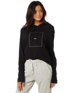 BLACK WOMENS CLOTHING HURLEY TEES - AGTLRLGLD010