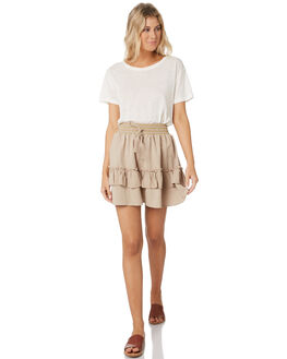FEATHER GREY WOMENS CLOTHING RUSTY SKIRTS - SKL0460GREY
