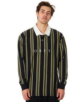 BLACK MULTI MENS CLOTHING OBEY SHIRTS - 131040014BLKML