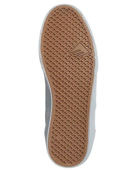 BLACK GREY MENS FOOTWEAR EMERICA SKATE SHOES - 6101000104-570