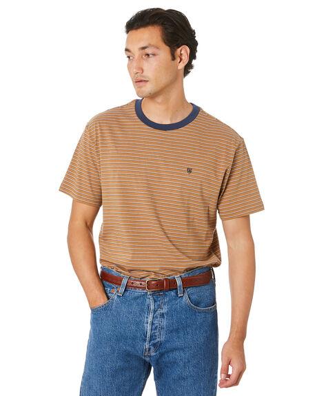 COCONUT WASH NAVY MENS CLOTHING BRIXTON TEES - 02702CWNW