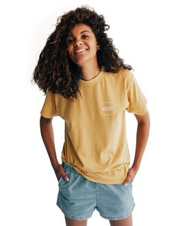 RATTAN WOMENS CLOTHING QUIKSILVER TEES - EQWKT03001-YHP0