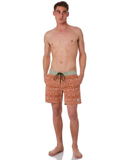 ORANGE RUST MENS CLOTHING DEUS EX MACHINA BOARDSHORTS - BDMS82646ORA