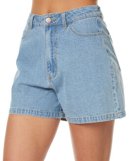 STONE BLUE WOMENS CLOTHING AFENDS SHORTS - 52-01-083STBL