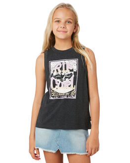 BLACK KIDS GIRLS RIP CURL TOPS - JTEEJ10090