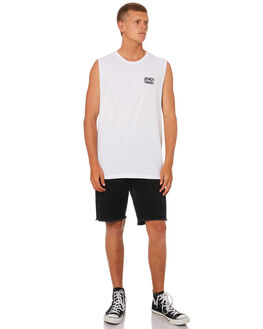 WHITE MENS CLOTHING AFENDS SINGLETS - M184081WHI