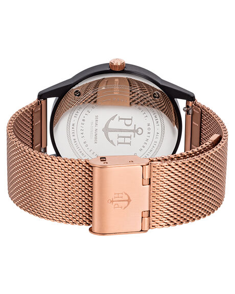 BLACK MARB ROSE GOLD WOMENS ACCESSORIES PAUL HEWITT WATCHES - PH-PM-3-MBMRG