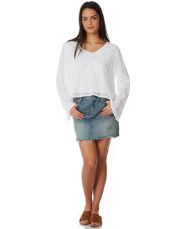 WHITE WOMENS CLOTHING ALL ABOUT EVE FASHION TOPS - 6423037WHT