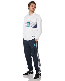 NAVY WHITE MENS CLOTHING ADIDAS PANTS - EC7309NVWH
