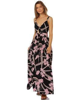 BLACK WOMENS CLOTHING RUSTY DRESSES - DRL0950BLK
