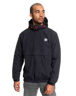 BLACK MENS CLOTHING DC SHOES JACKETS - EDYJK03207-KVJ0