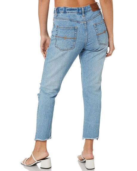 DUST BLUE WOMENS CLOTHING RUSTY JEANS - PAL1151DUB