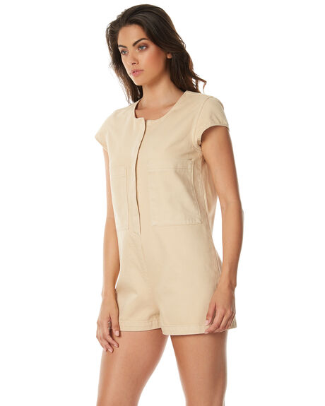 1b6640de26a NATURAL WOMENS CLOTHING ZULU AND ZEPHYR PLAYSUITS + OVERALLS - ZZ1527NAT