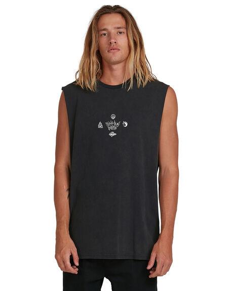 NAVY MENS CLOTHING BILLABONG SINGLETS - BB-9517508-NVY