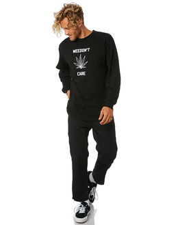 BLACK MENS CLOTHING GOOD WORTH TEES - LWC1831BLK