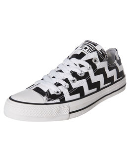 WHITE BLACK WOMENS FOOTWEAR CONVERSE SNEAKERS - 565438CWHTB