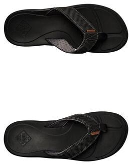 BLACK MENS FOOTWEAR FREEWATERS THONGS - MO033BLK