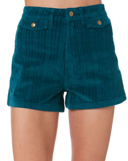 PEACOCK GREEN WOMENS CLOTHING WRANGLER SHORTS - W951463559