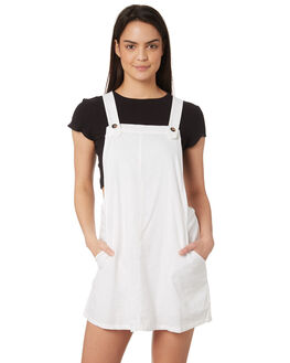 WHITE WOMENS CLOTHING RUSTY PLAYSUITS + OVERALLS - DRL0960WHT