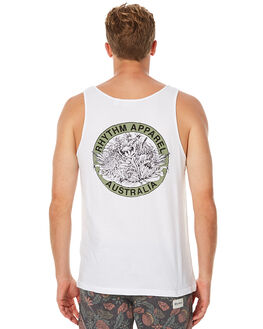 WHITE MENS CLOTHING RHYTHM SINGLETS - NOV16-SNG01WHT