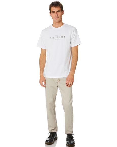 WHITE MENS CLOTHING THRILLS TEES - TH20-109AWHT