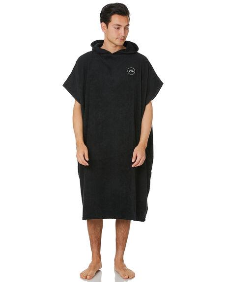 BLACK MENS ACCESSORIES RUSTY TOWELS - TWM0165BLK
