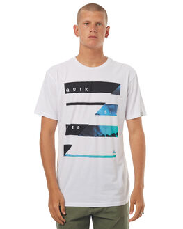 WHITE MENS CLOTHING QUIKSILVER TEES - EQYZT04569WBB0