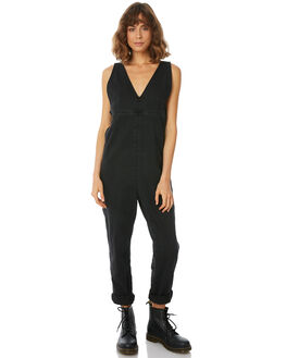 FADED BLACK WOMENS CLOTHING THRILLS PLAYSUITS + OVERALLS - WTDP-910GFBLK