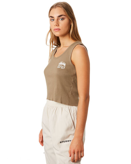 MUSHROOM WOMENS CLOTHING STUSSY SINGLETS - ST192206MUSH