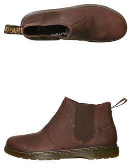 DARK BROWN MENS FOOTWEAR DR. MARTENS BOOTS - SS20832201DBRNM