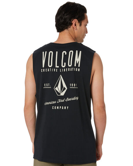 BLACK OUTLET MENS VOLCOM TEES - A3742000BLK