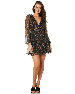 VOODOO CHILD PRINT WOMENS CLOTHING STEVIE MAY DRESSES - SL191008DPRINT