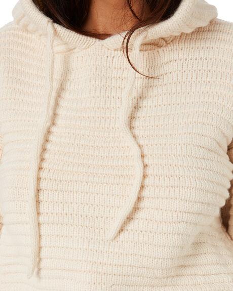 WHITE WOMENS CLOTHING RUE STIIC KNITS + CARDIGANS - SW-20--K-09-WWHT