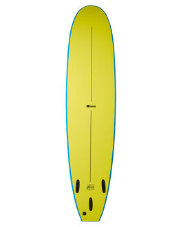 BLUE FLURO YELLOW BOARDSPORTS SURF FOAMIE SOFTBOARDS - F8BLUEBLUFY