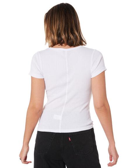 WHITE WOMENS CLOTHING STUSSY TEES - ST106115WHT