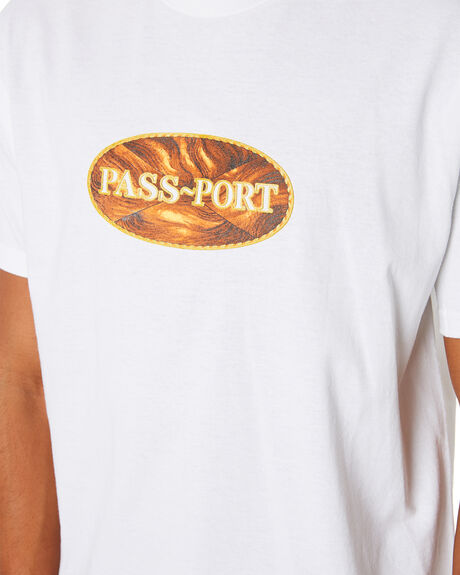 WHITE MENS CLOTHING PASS PORT TEES - PPINLAYTWHT