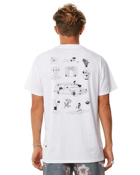WHITE MENS CLOTHING BILLABONG TEES - 9585025WHT