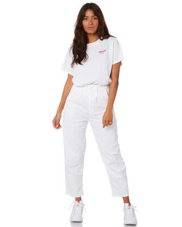 WHITE FINE TWILL WOMENS CLOTHING LEVI'S PANTS - 85791-0001