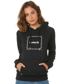 BLACK WOMENS CLOTHING HURLEY JUMPERS - AGFL1764010