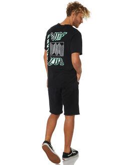 BLACK MENS CLOTHING OAKLAND SURF CLUB TEES - AW18T3001