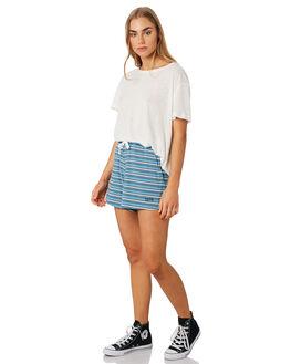 BLUE WHITE WOMENS CLOTHING RPM SHORTS - 9PWB01ABLUWH