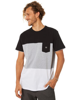 BLACK MENS CLOTHING BILLABONG TEES - 9582001BLK