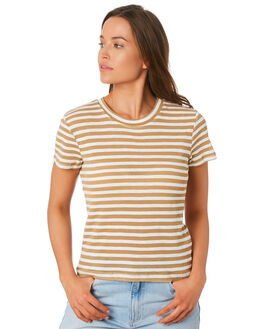 TAN STRIPE WOMENS CLOTHING NUDE LUCY TEES - NU23555TANS