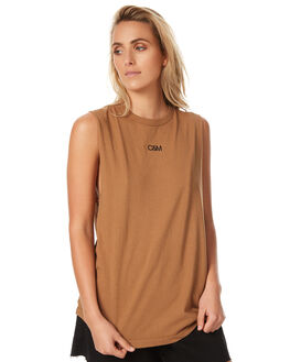 CAMEL WOMENS CLOTHING CAMILLA AND MARC SINGLETS - PCMT6607CAM