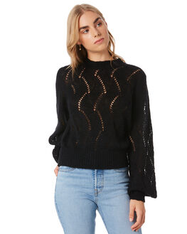 BLACK WOMENS CLOTHING ROLLAS KNITS + CARDIGANS - 13558100
