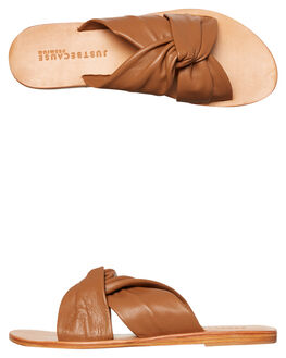 TAN WOMENS FOOTWEAR JUST BECAUSE FASHION SANDALS - SOLE1183TAN