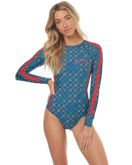 BLUE MULTI WOMENS SWIMWEAR THE UPSIDE ONE PIECES - UPL1514BLMLT