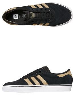 BLACK RAW GOLD WOMENS FOOTWEAR ADIDAS ORIGINALS SNEAKERS - SSCQ1074BKGDW