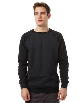 BLACK MENS CLOTHING HURLEY JUMPERS - AMFLBYSC00A
