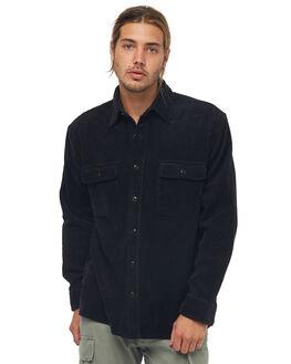 VINTAGE BLACK MENS CLOTHING RUSTY SHIRTS - WSM0807VBL
